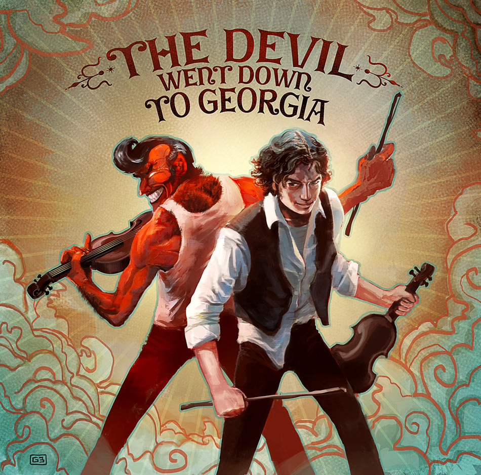 the devil went down to georgia The devil went down to georgia lyrics: the devil went down to georgia he was lookin' for a soul to steal / he was in a bind cause he was way behind he was willing.